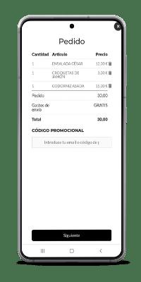 pantalla de pedido - sistema de pedidos readyme