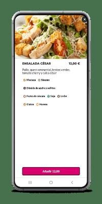 pantalla de producto - sistema de pedidos readyme