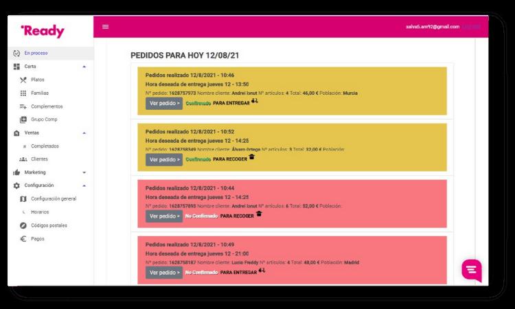 portal de gestion web readyme