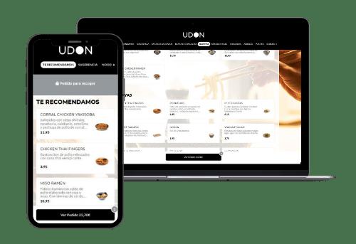 web de pedidos readyme para udon